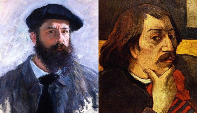 Claude Monet and Paul Gauguin