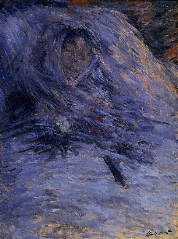 Camille Monet on Her Deathbed, 1879 by Claude Monet