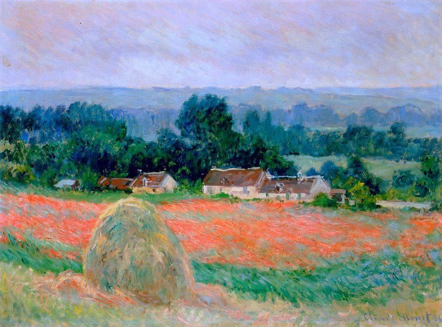 Haystack at Giverny, 1886 - by Claude Monet
