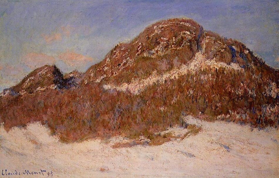Mount Kolsaas in Sunlight, 1895  - by Claude Monet