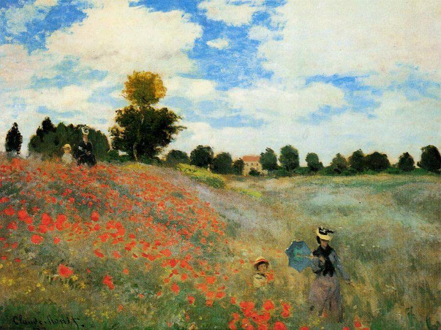 The Poppy Field near Argenteuil, 1873 by Claude Monet