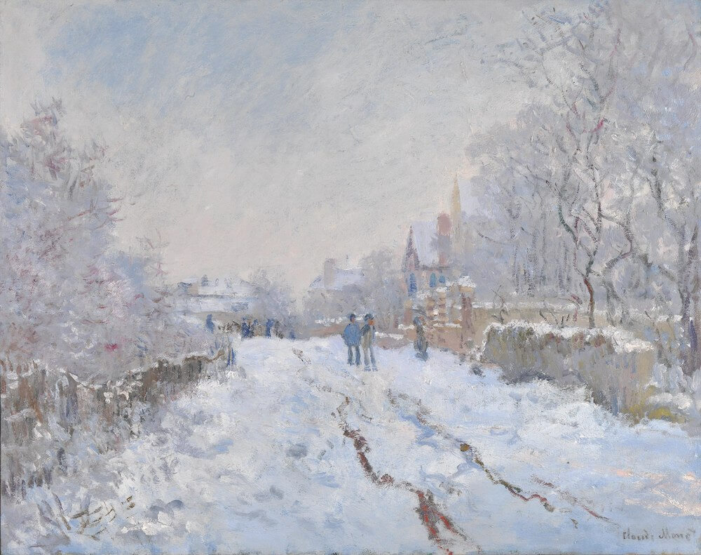 Snow at Argenteuil, 1874 - by Claude Monet