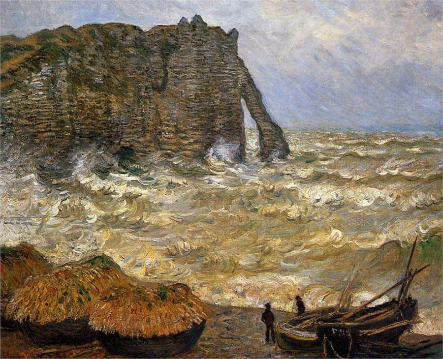 Stormy Sea in Étretat, 1883 by Claude Monet