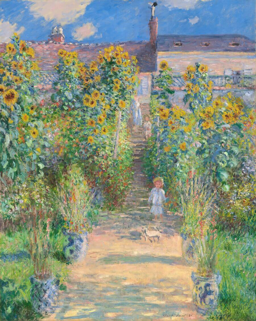 The Artist's Garden at Vetheuil, 1880 - by Claude Monet