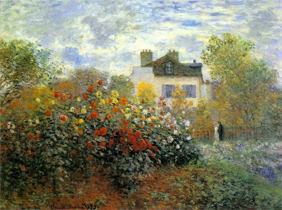 The Garden of Monet at Argenteuil by Claude Monet