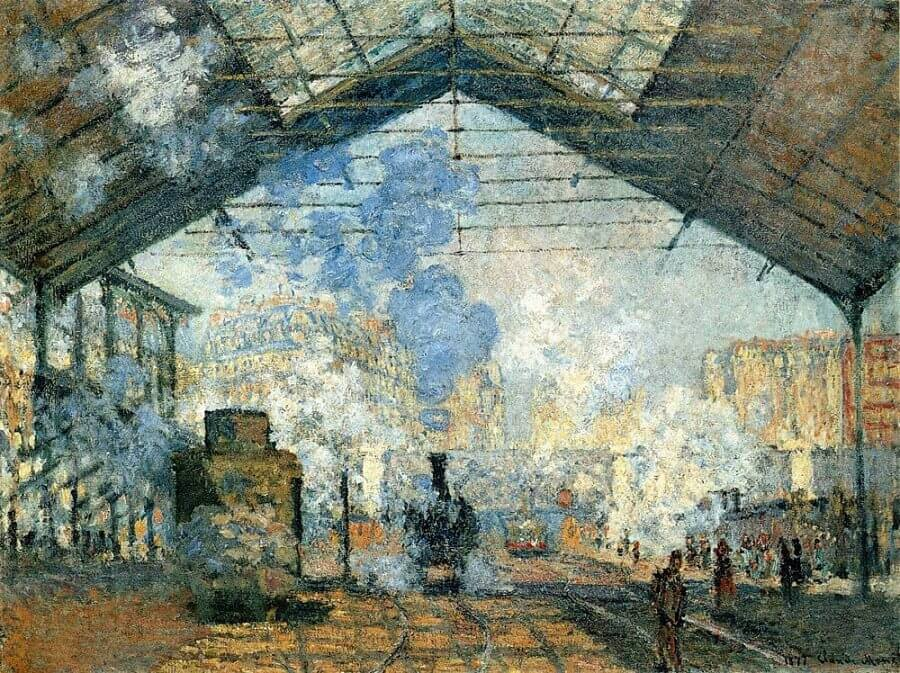 The Saint-Lazare Station, 1877 - by Claude Monet