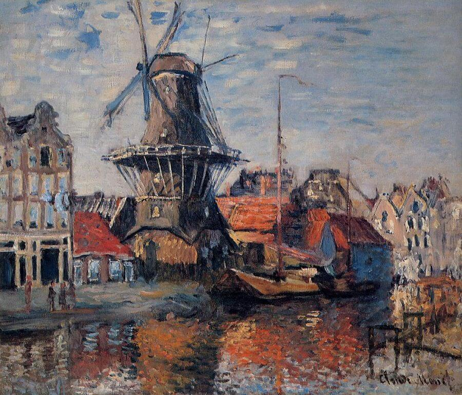 The Windmill at Amsterdam, 1871 by Claude Monet