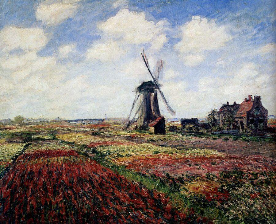 Tulip Fields, 1886 by Claude Monet