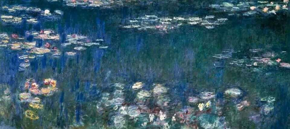 Water Lilies, Green Harmony, 1914-1917 by Claude Monet