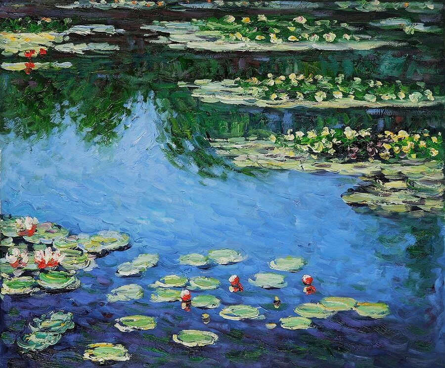 Water Lilies, Harmony in Blue, 1917 by Claude Monet