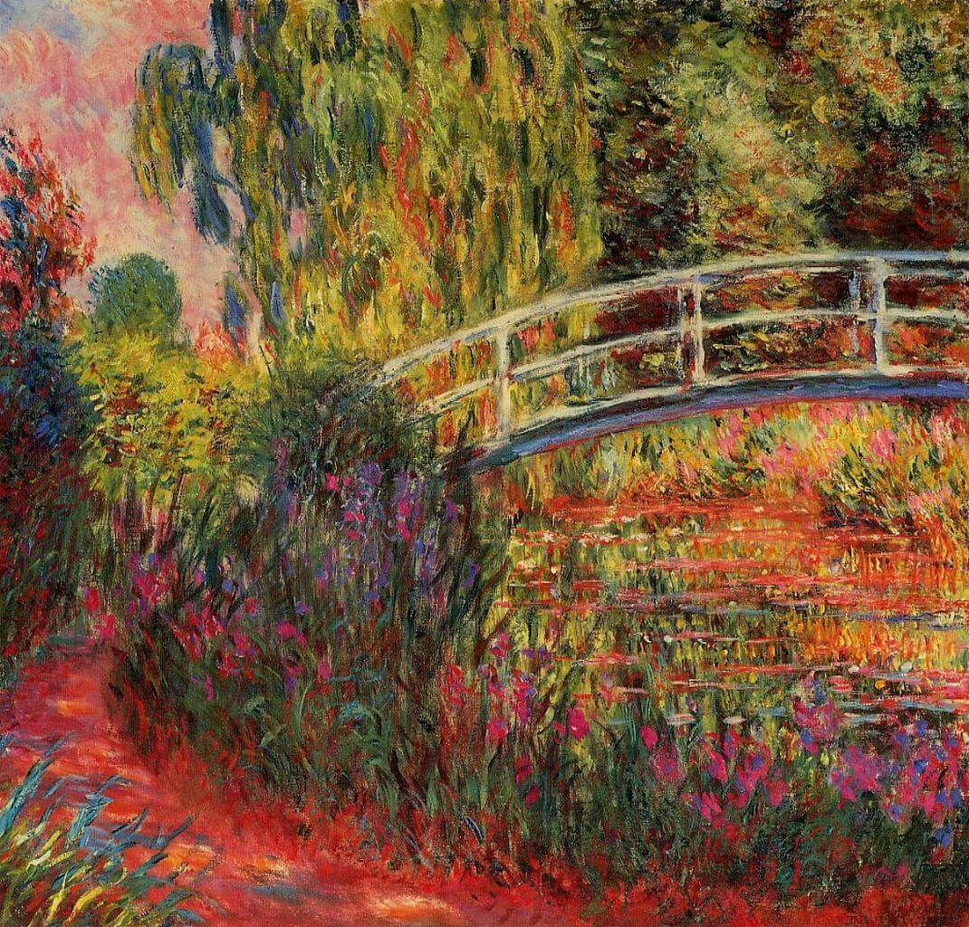 Water Lily Pond, Water Irises, 1900 - by Claude Monet