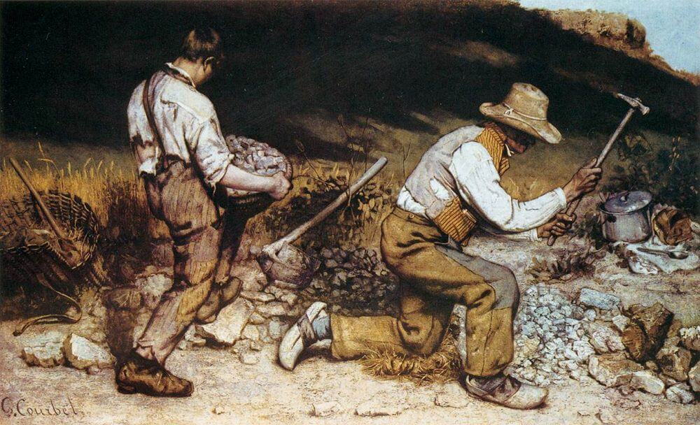 The Stone Breakers by Courbet